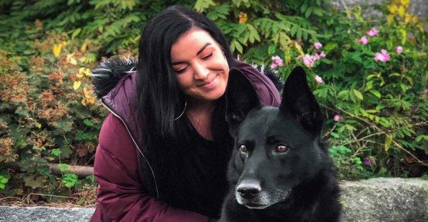 Hjältehunden Larrac rescued Jennifer, 26, when she was subjected to attempted rape