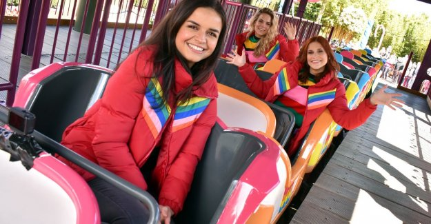 IN THE PICTURE. K3 opens own roller coaster in Plopsaland De Panne