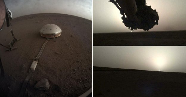 IN THE PICTURE. So can see sunrise and sunset on Mars look like