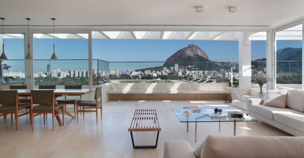 Insanely live: in this penthouse you have a beautiful view over the Brazilian city