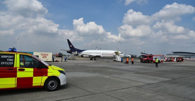 Large-scale emergency drill at Brussels Airport