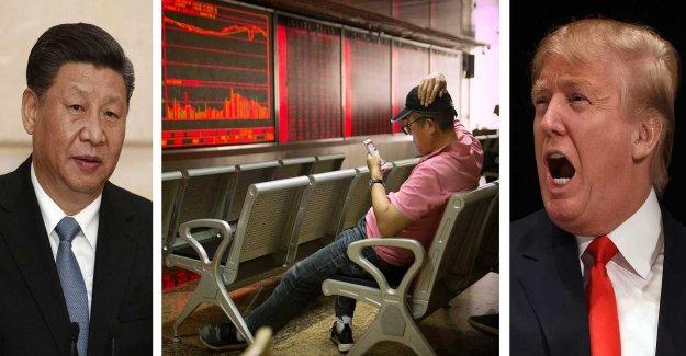 Large stock market fall after China's hämndtullar