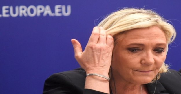 Le pen's party in polls for the European elections, the front