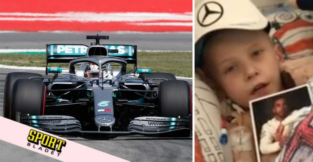 Lewis Hamilton gives the F1 car to the terminally ill at the age of five
