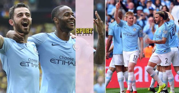 Manchester City crushed Watford in the final of the FA cup