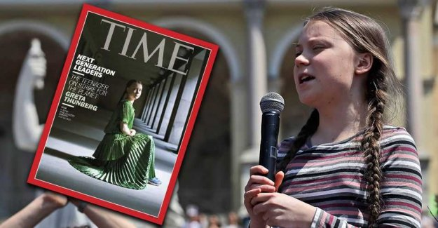 Nah, Greta Thunberg flew not to the united states for the Time-cover