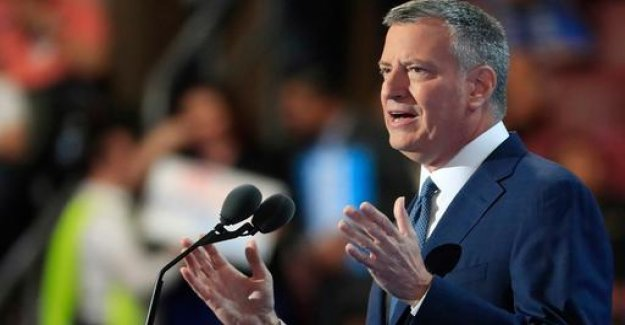 New York's mayor De Blasio wants the US President to be