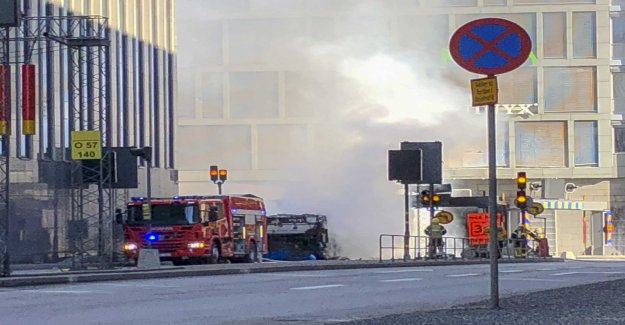 Olycksbuss was filled with gas before the explosion