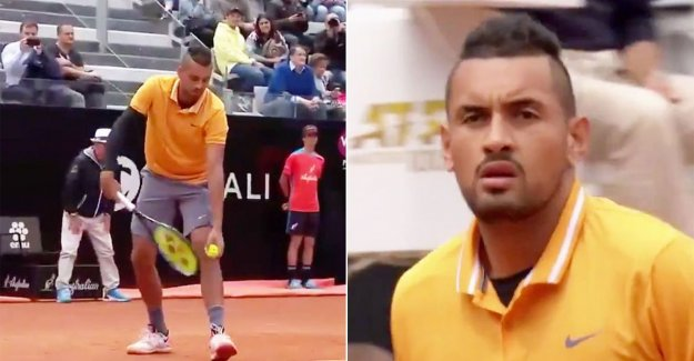 Out of the tournament because he has a chair thrown: 'bad boy' Nick Kyrgios is not at all to his advantage