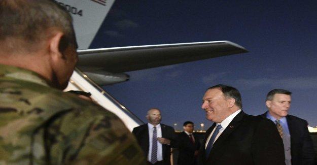 Pompeo at the secret visit to Iraq