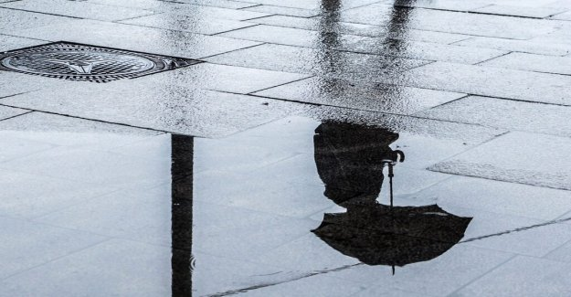 Rain on valborg in large parts of the country