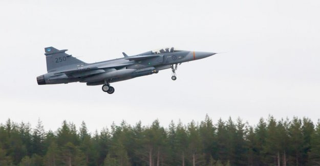 Serious incident when the gripen aircraft landed
