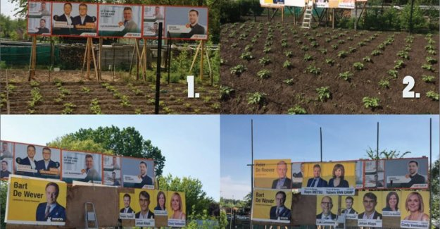 So childish can politics be: N-VA and CD&V arguing for visibility billboards