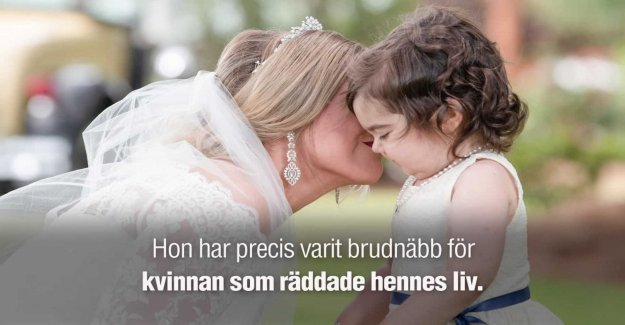 Survived, thanks to the donor was brudnäbb at the wedding