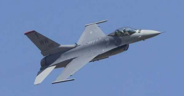 The F-16 plane crashed through the roof