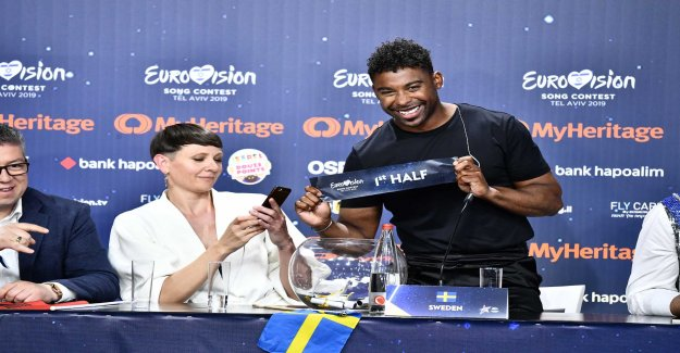 The boot order in the Eurovision-finale – then sings Lundvik