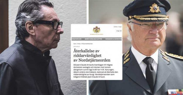 The king withdraws Jean-Claude Arnaults award