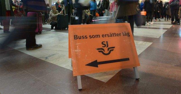 The stop in rail traffic in Gothenburg