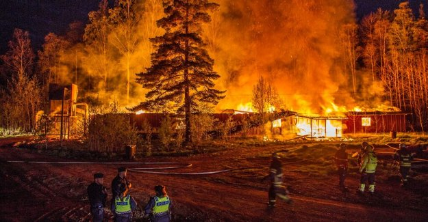 The timber industry in flames in Garpenberg