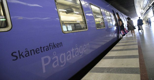 The trains to Malmö is cancelled this weekend