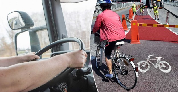 The truck driver followed the GPS ended up on the bike path