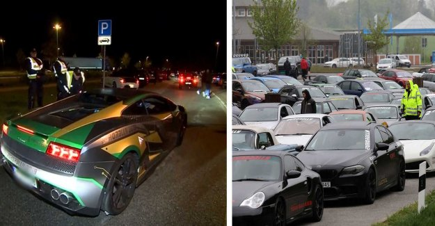 This stops the police 120 sports cars on the Autobahn