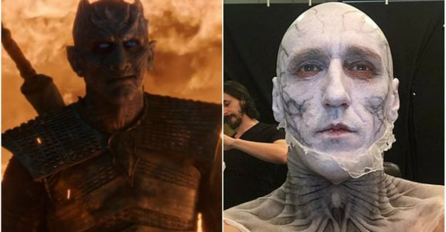 This stuntman behind the mask of the Night King