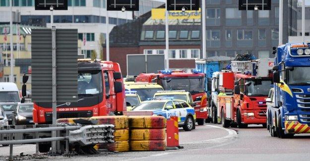 Two injured after accident on the Essingeleden