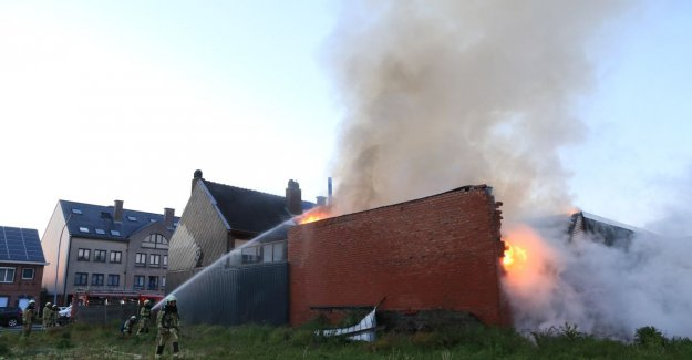 VIDEO. Drugsplantage exposed to heavy fire in warehouse in Stationsstraat