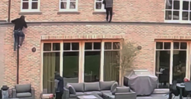 VIDEO. Thieves climb through the downspout and window inside the house
