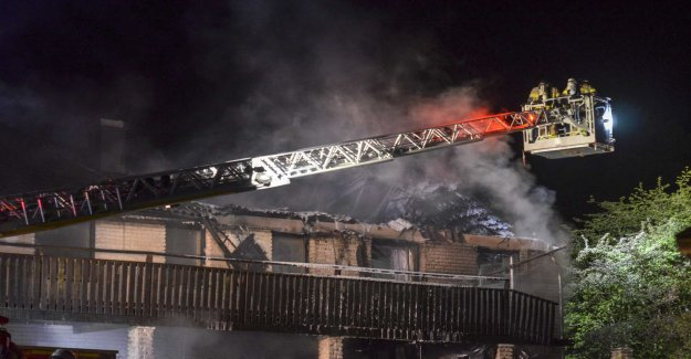 Villa destroyed in the fire – large go-around