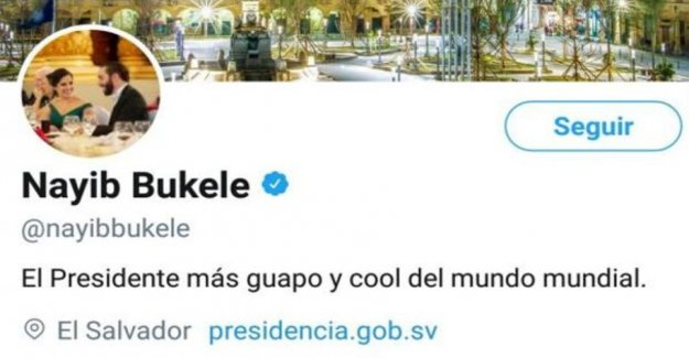 Bukele is described as The President more handsome and cool in the world on his Twitter