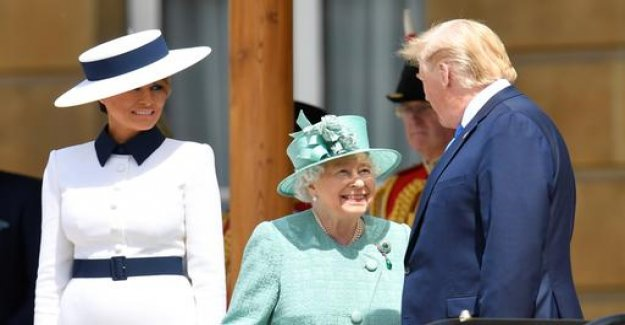 US President in London: Trump meets the Queen