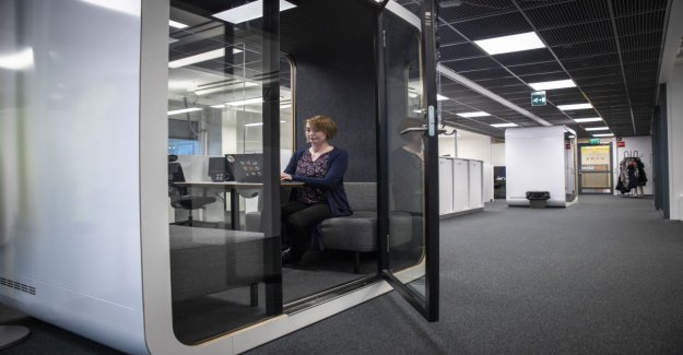 An open-plan, the problem is patched now by creating a new kind of working environment – When you come here, the rest of the world disappears around