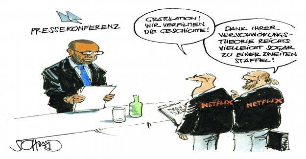 Cartoon: CS-affair a case for Netflix