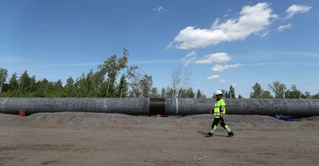 The Nord Stream 2 gas pipeline construction delayed the Danish bend and give permission