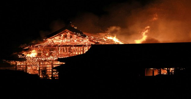 The world heritage site of Shuri historic castle was almost completely destroyed in a fire in Japan