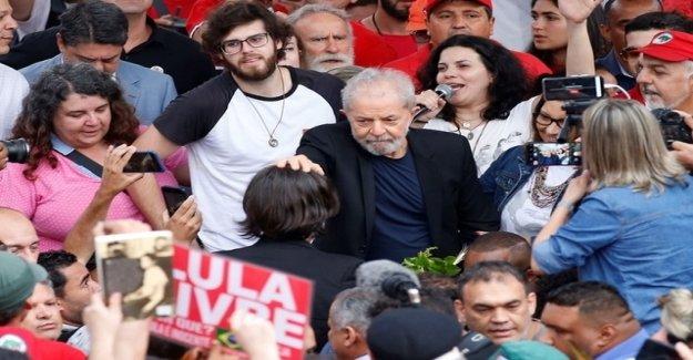 Brazil Ex-President Lula leaves prison