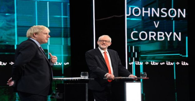 Corby and Johnson clashed in the first british election tv in the exam – the Conservative Twitter-trick angered others