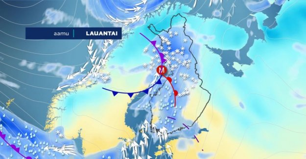 Early in the week the weather situation in life in South Finland – the Permit either 30 inches of snow or the cold breeze to your bones