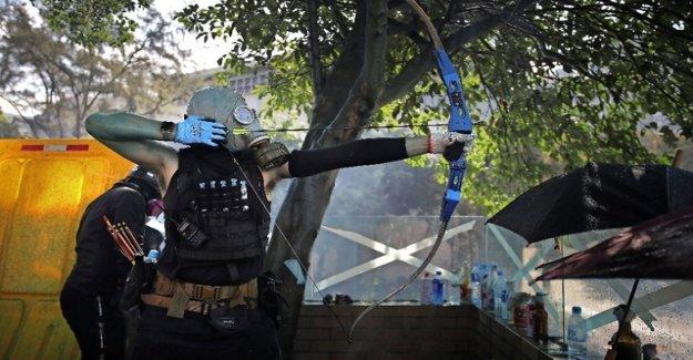 Hong Kong police threatening lethal force