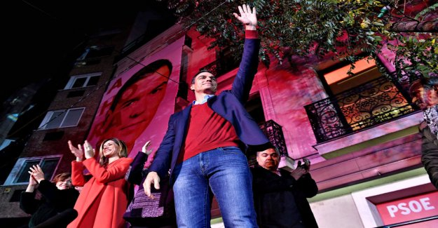 The Spanish elections, the socialists maintained their scant lead of