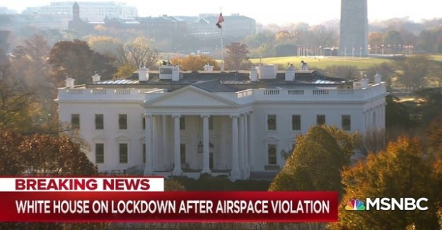 The white house temporarily totally blocked