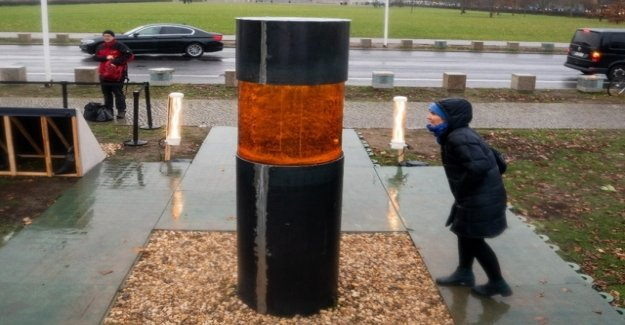 A memorial with the ashes of Auschwitz Victims