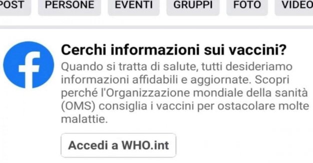 Facebook now warns those who visit the groups no-vax, and invites you to check the news