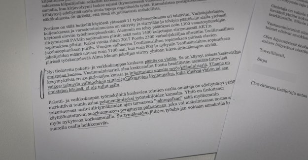 Yle leaked memo: Sirpa Paatero told the Post tes-the transfer of the prime minister in August – a memorandum understands the Postal solution