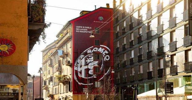 Alfa Romeo is the protagonist of street art