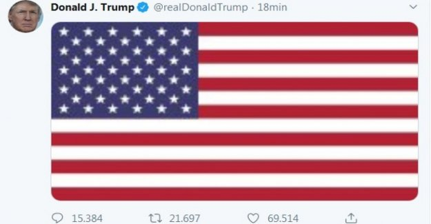 And Trump tweet the american flag