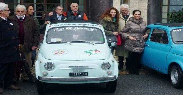 Befana solidarity at the Gaslini institute of Genoa, italy with the Fiat 500 Club Italia