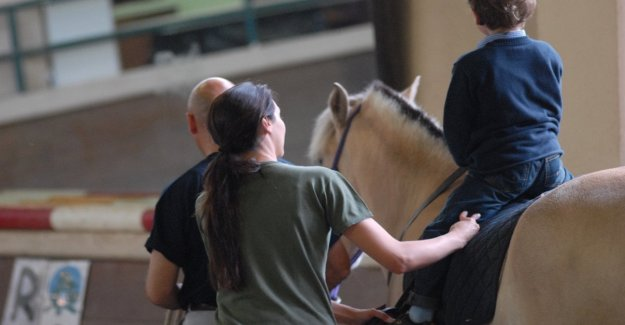 Hippotherapy: the horse as Adelina, the children learn to manage emotions